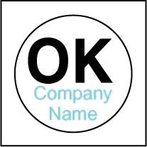 Custom OK Stickers Template OK001